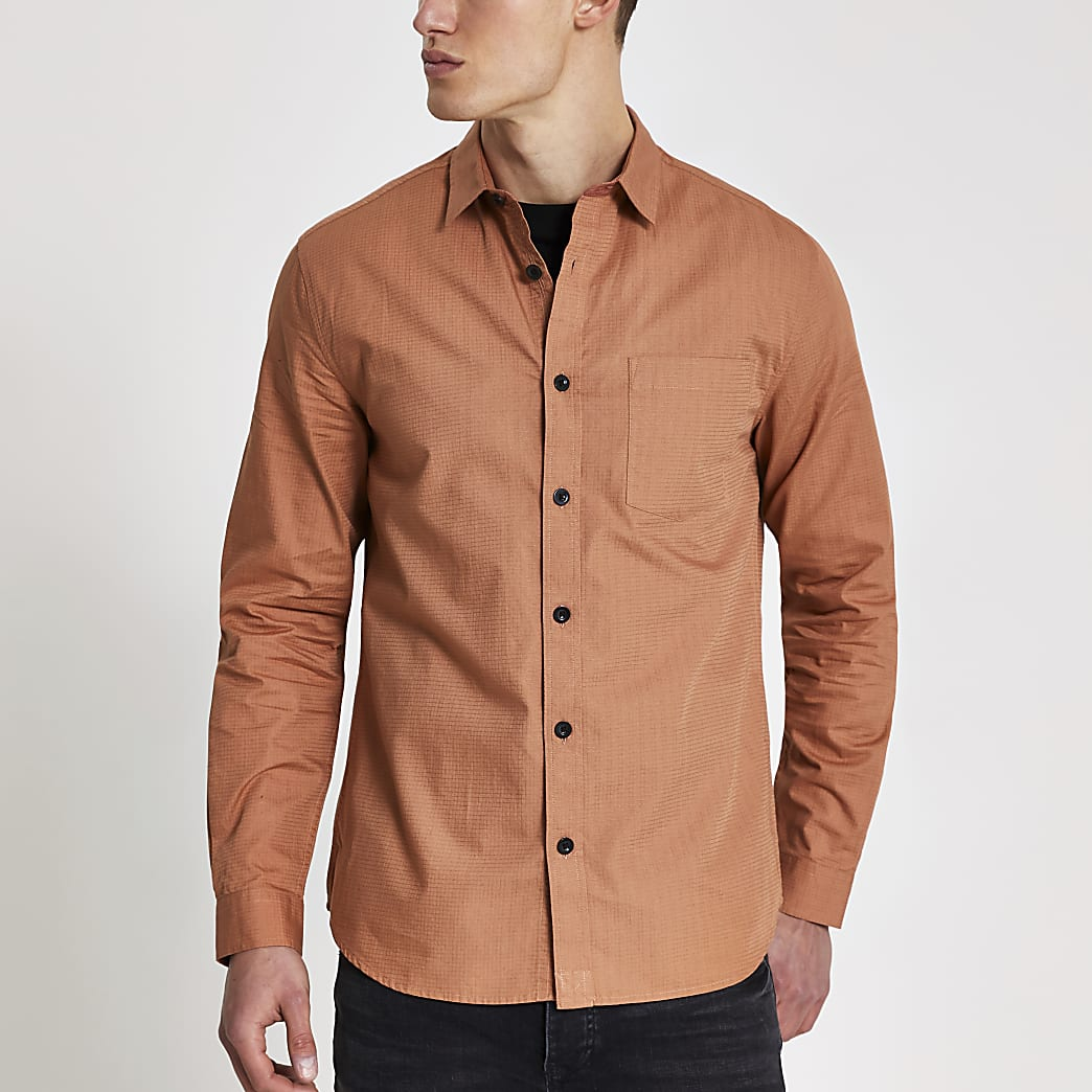 Rust utility long sleeve shirt