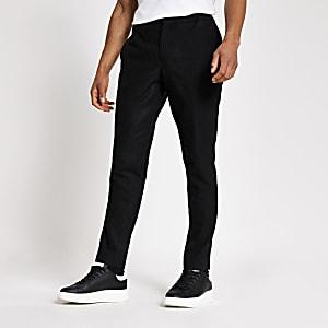 Selected Homme - Donkergrijze slim-fit tapered broek