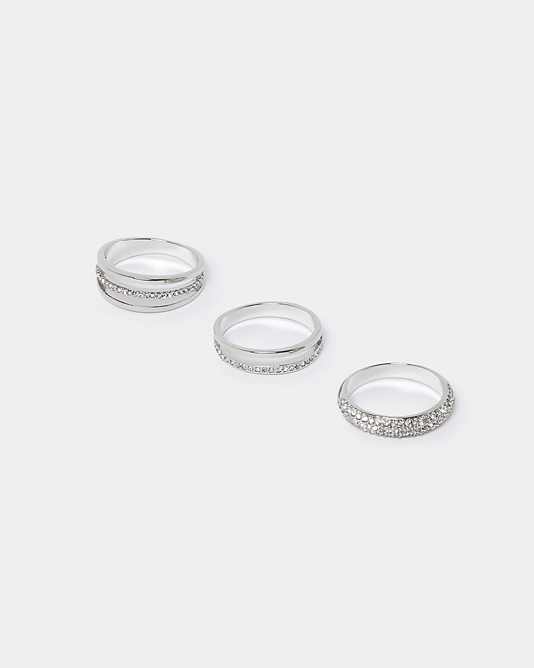 Silver 3 pack multiband rings