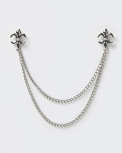 Silver chain collar tip