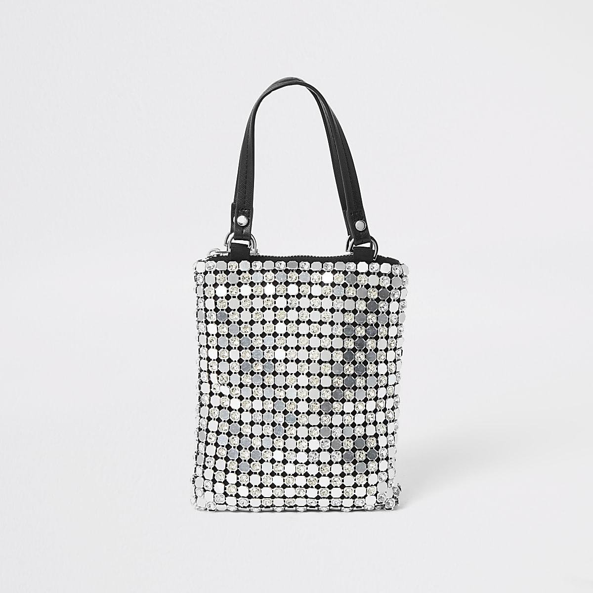 River Island metallic handbag
