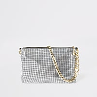 Silver chainmail underarm bag