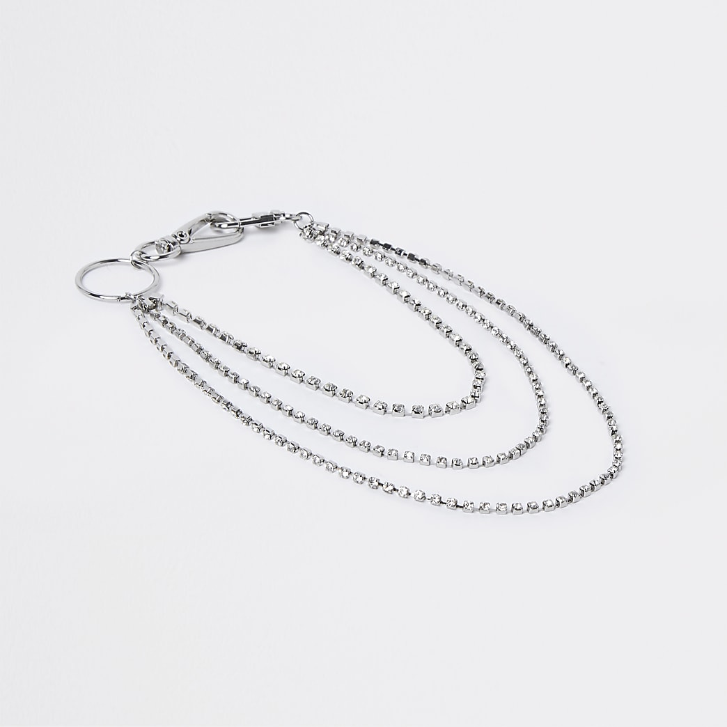 Silver colour belt chain