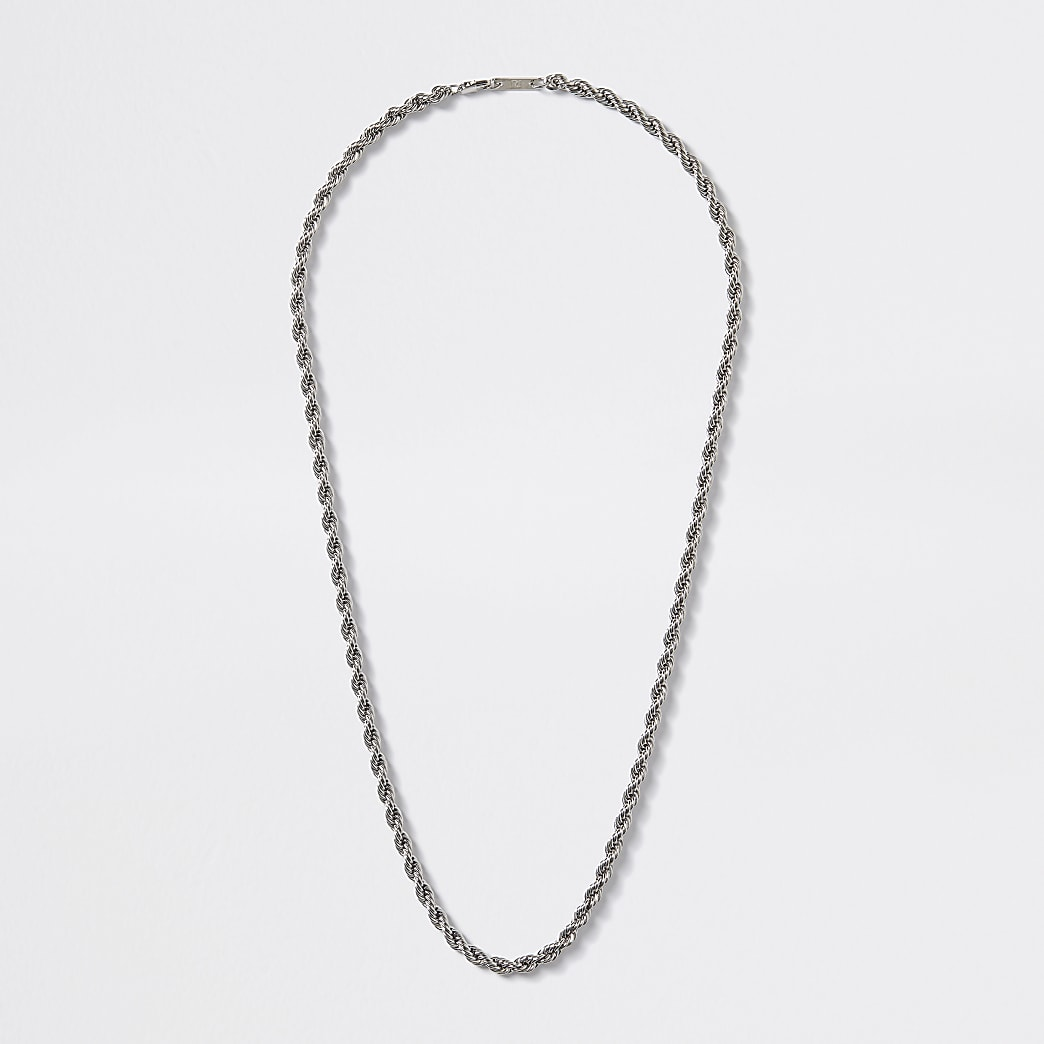 Silver colour chain necklace
