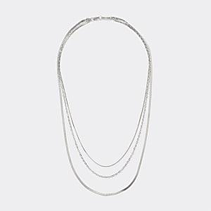 Mehrreihige Halskette in Silber