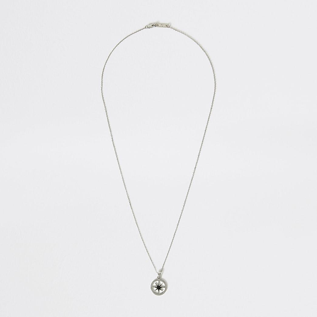 Silver colour star pendant necklace