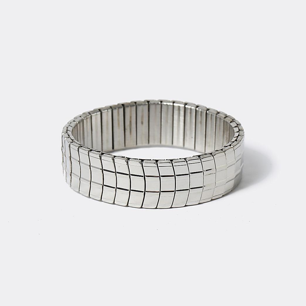 Silver colour stretch bracelet