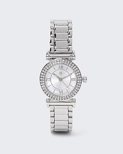 Silver diamante watch