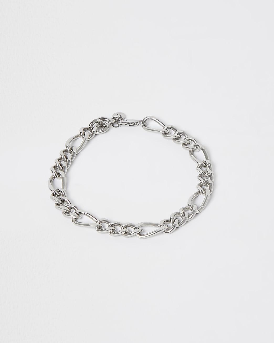 Silver figaro chain bracelet