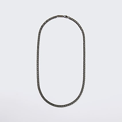 Silver flat chain necklace