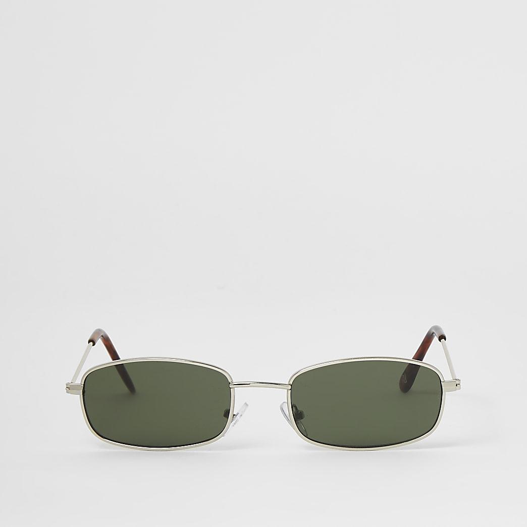 Silver mini rectangle sunglasses