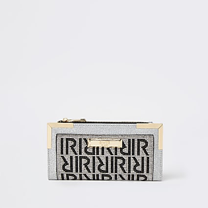 Silver monogram purse