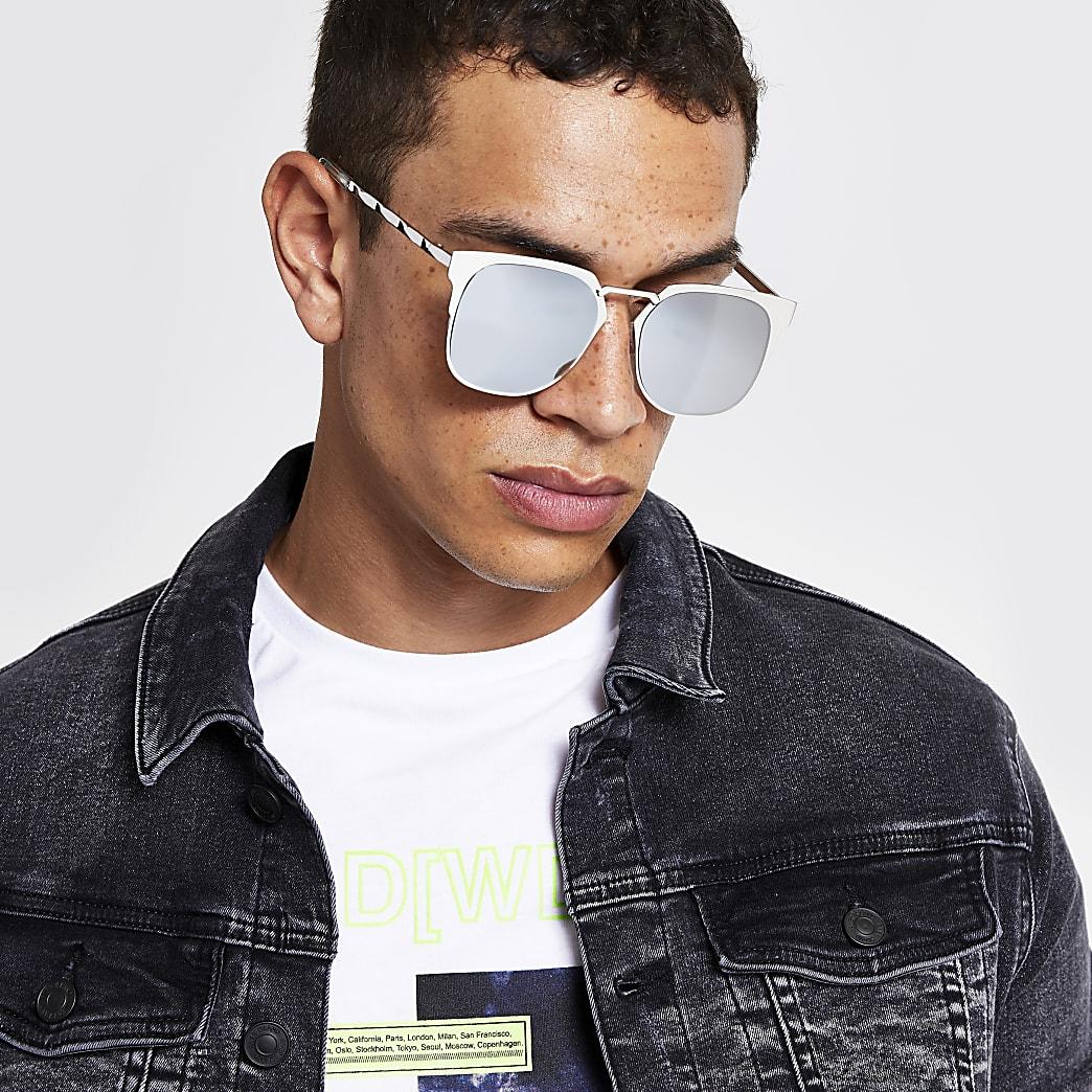 Silver retro style sunglasses