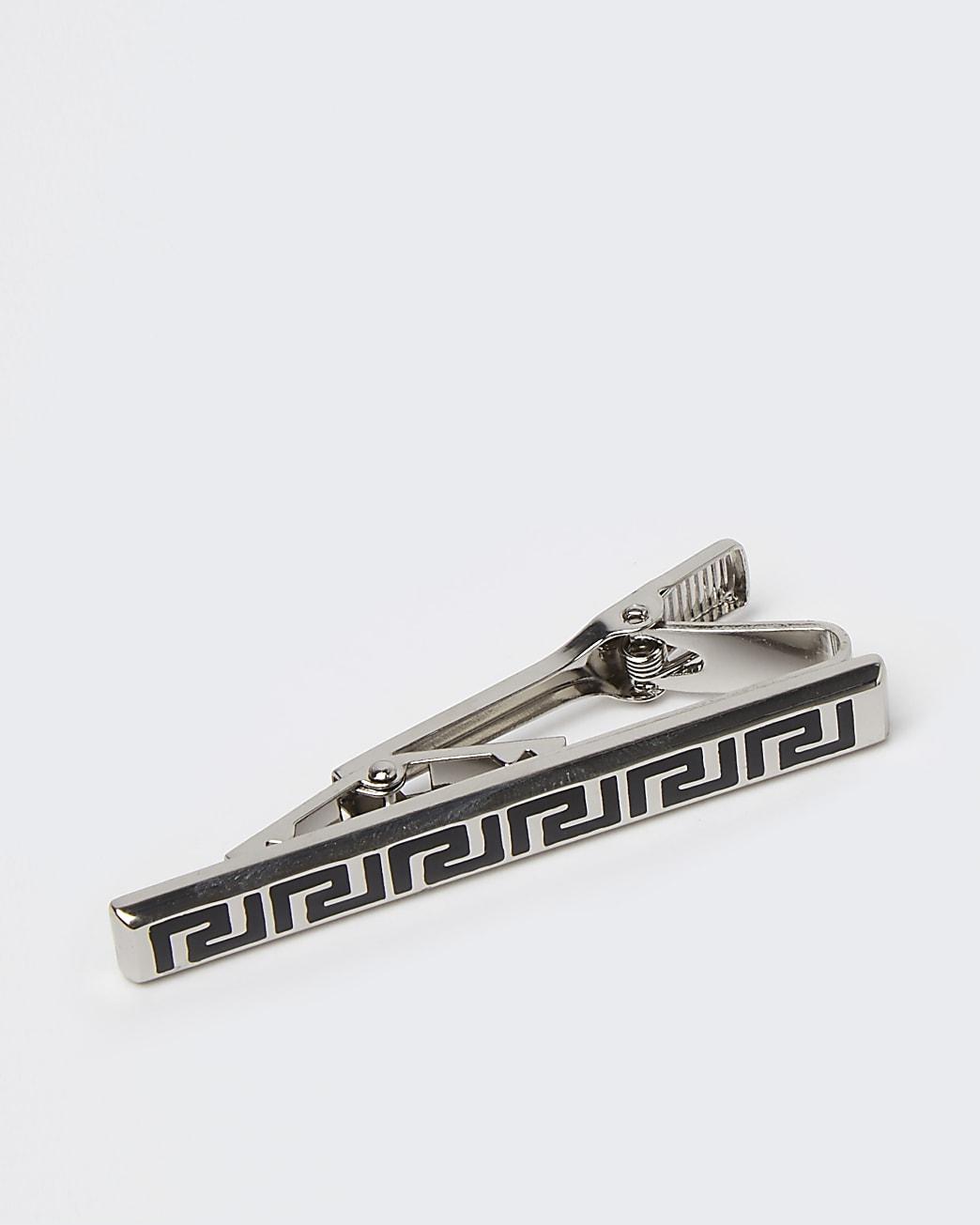 Silver RI engraved tie pin