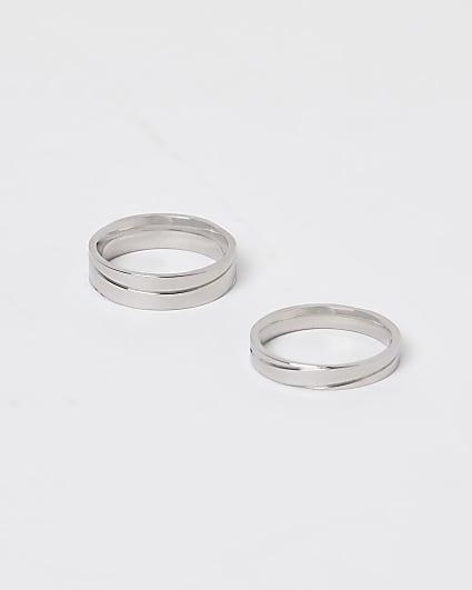 Silver ridge rings 2 pack