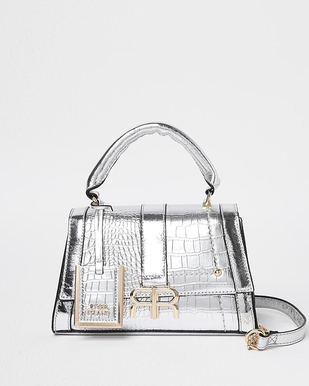 Silver RR mini tote bag