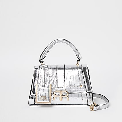 Silver RR mini tote bag