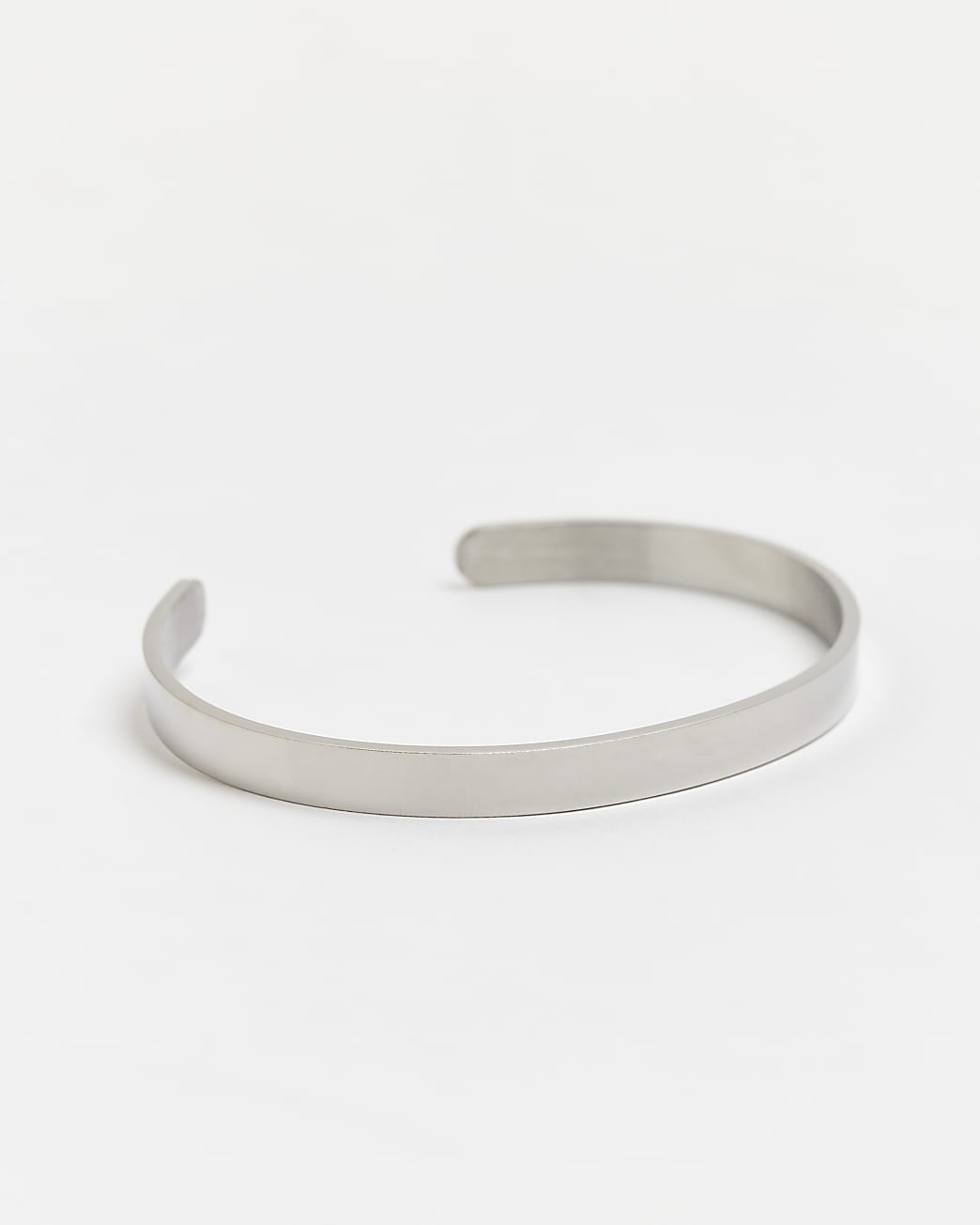 Silver stainless steel cuff bracelet