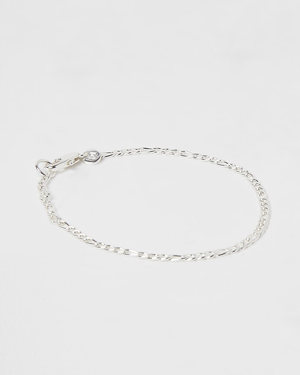 Silver stainless steel curb chain bracelet
