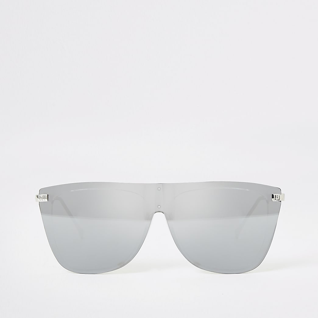 Silver visor sunglasses