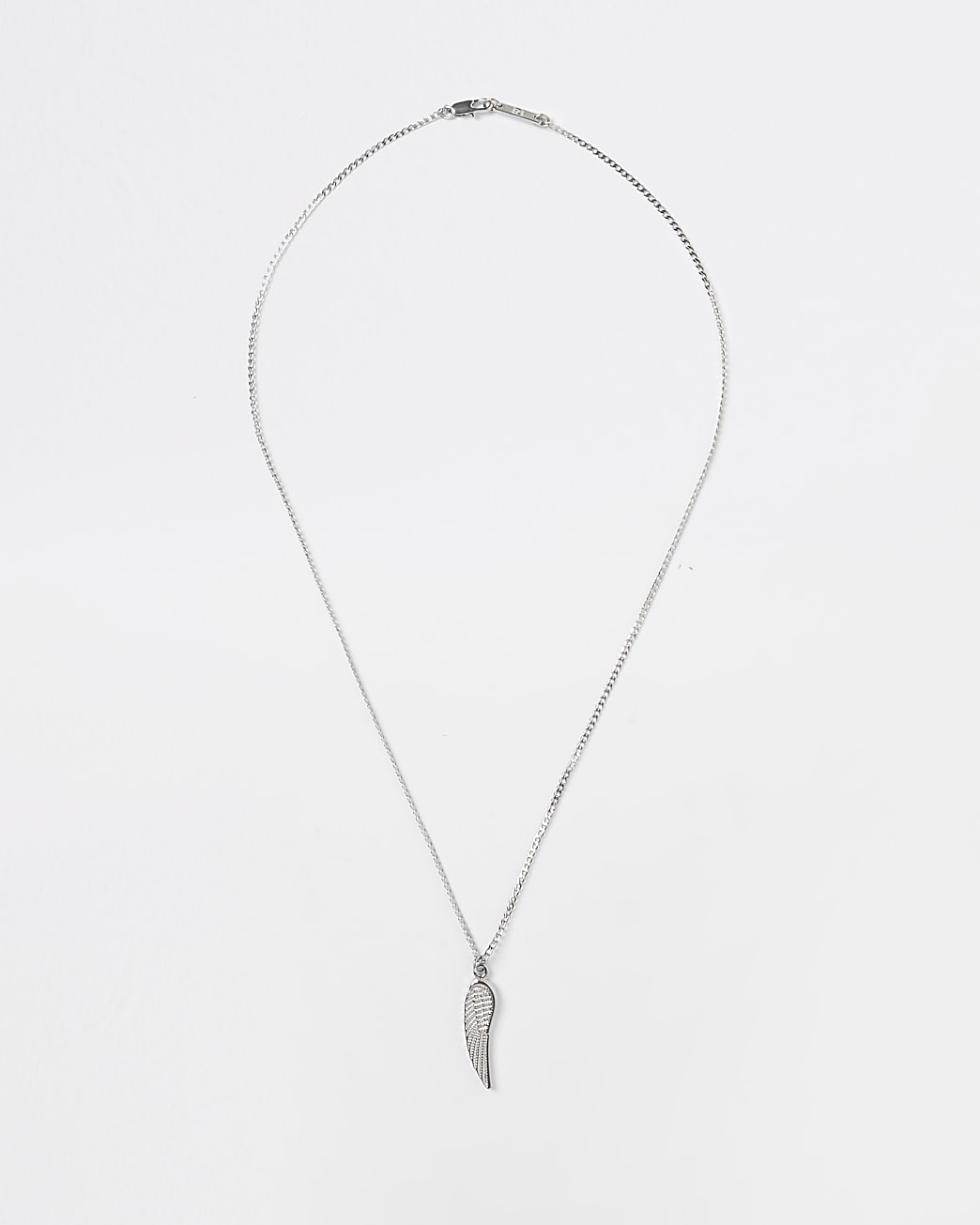 Silver wing pendant necklace