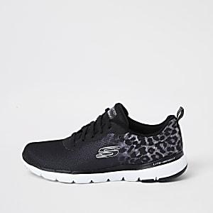 Skechers – Flex Appeal 3.0– Schwarze Sneaker