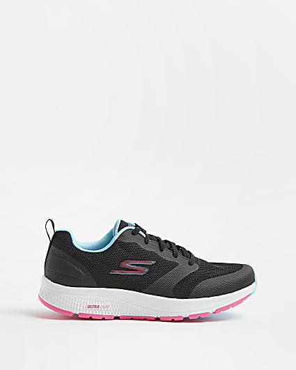 Skechers black running trainers