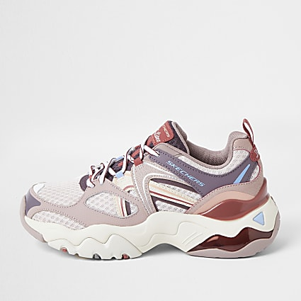 Skechers pink retro trainers