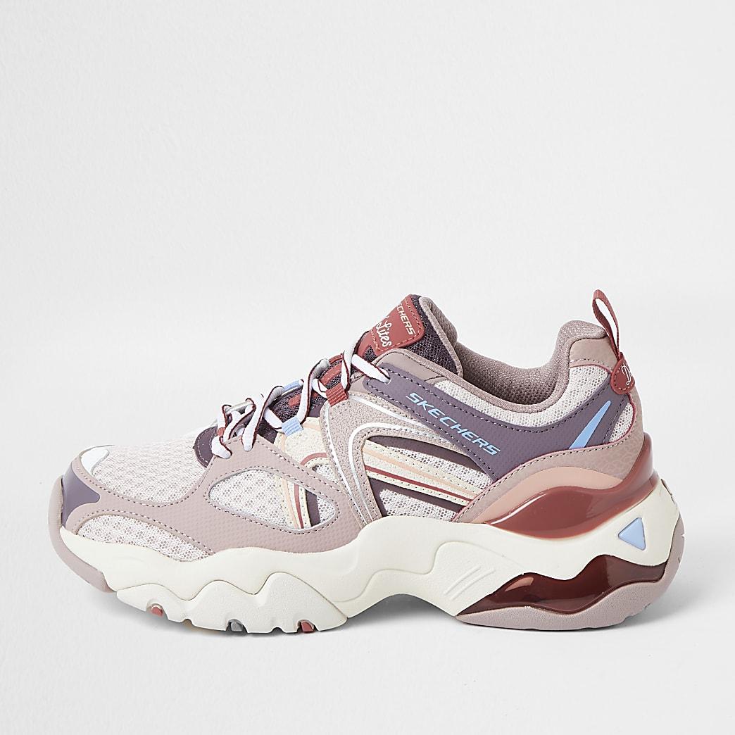 Skechers pink retro trainers