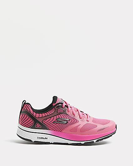Skechers pink running trainers