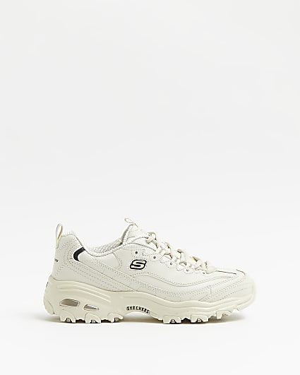 Skechers white chunky trainers