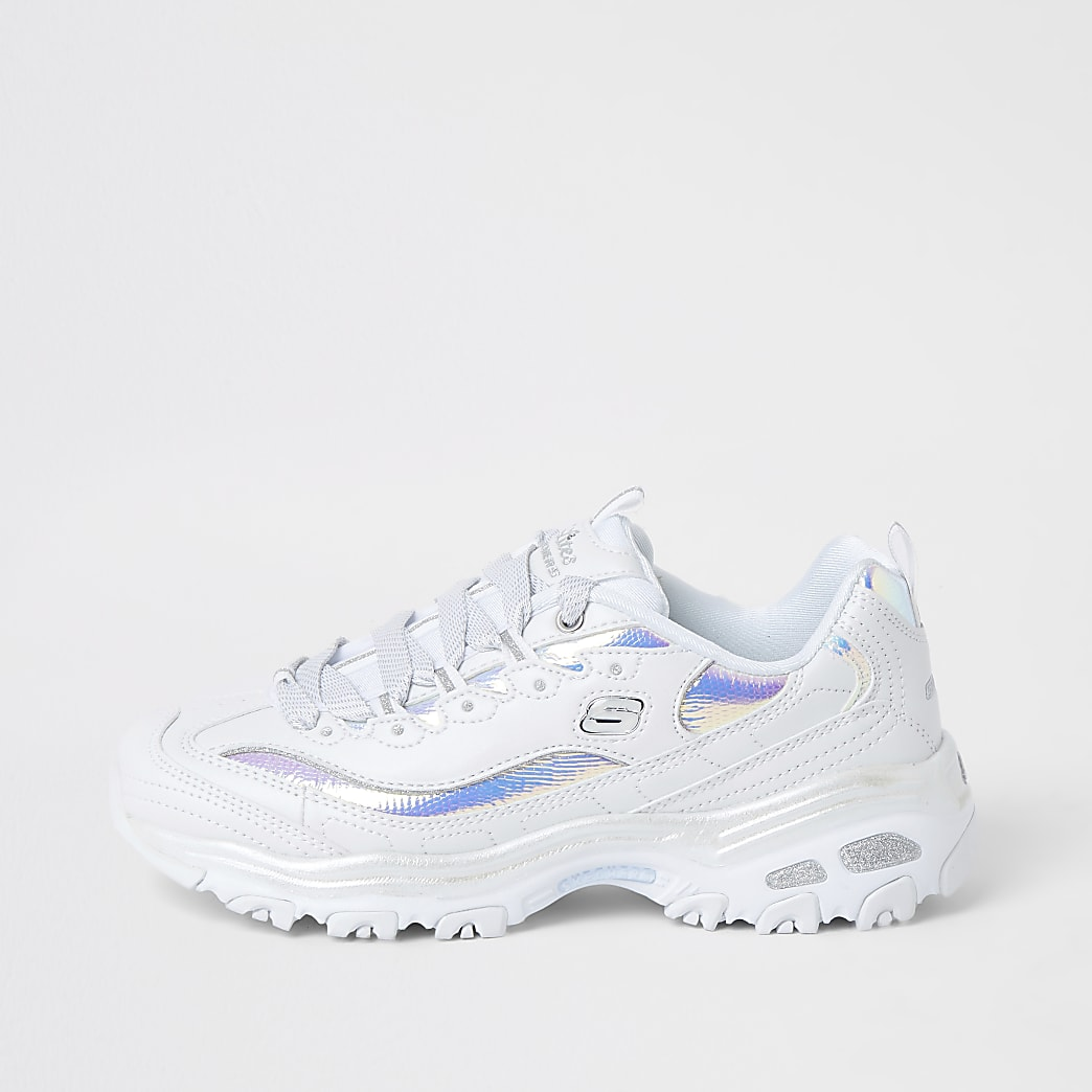 Skechers white D'Lites trainers