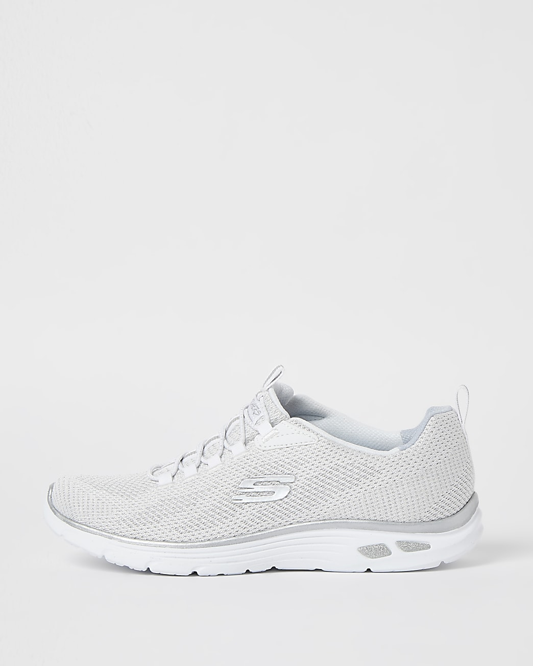 Skechers white lace up trainers
