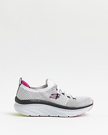 Skechers white running trainers