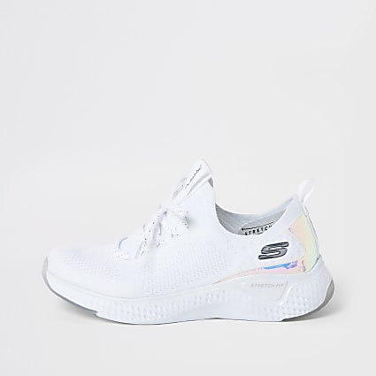 Skechers white solar-fuse gravity trainers