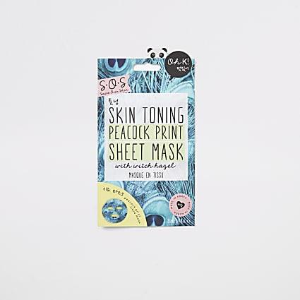 Skin toning sheet mask