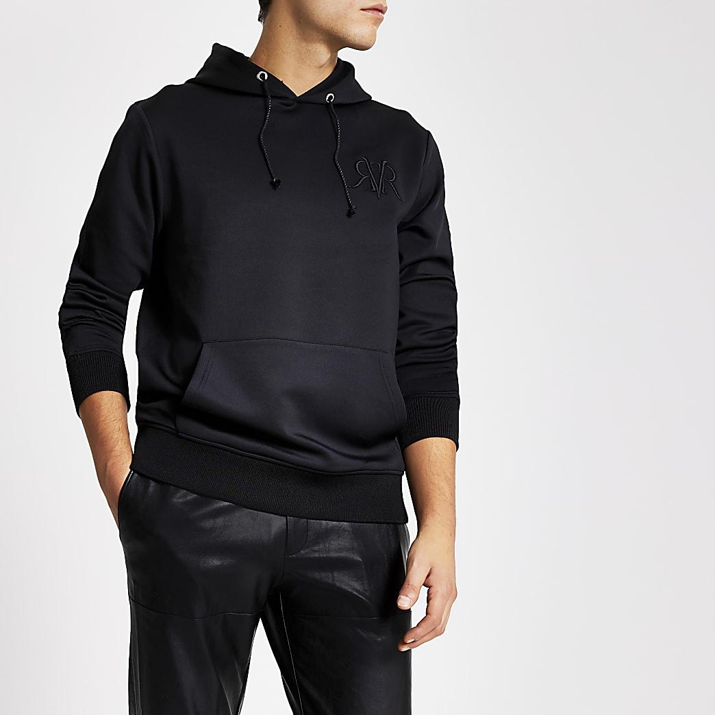 Smart Western - Zwarte slim-fit hoodie met RVR-letters