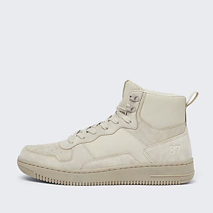 Stone 87 faux nubuck high top trainers