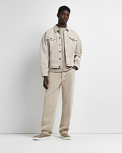 Stone baggy fit jeans