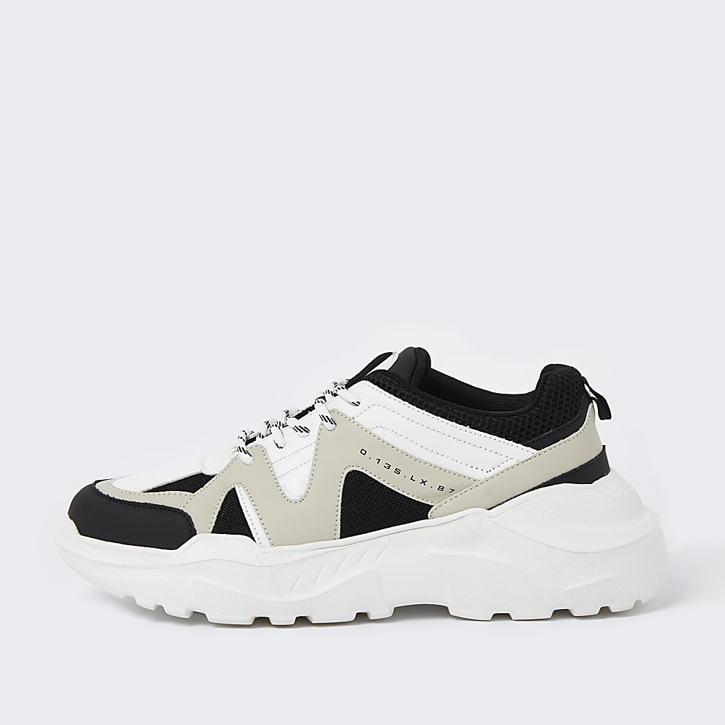 Stone caged chunky trainers