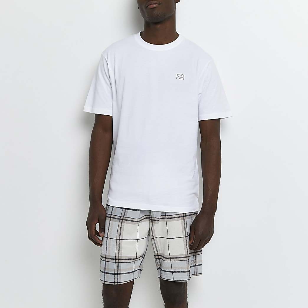 Stone check woven pyjama set