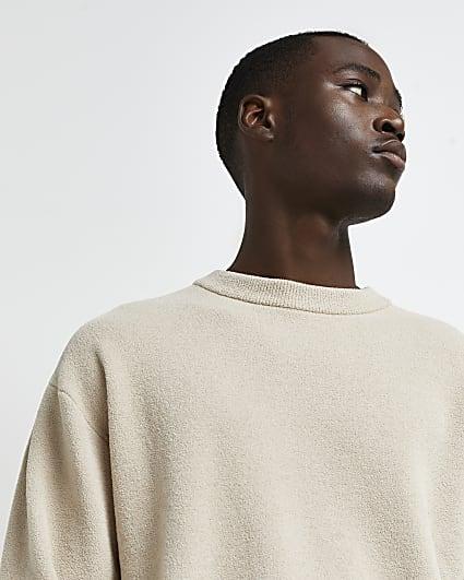 Stone knit long sleeve jumper