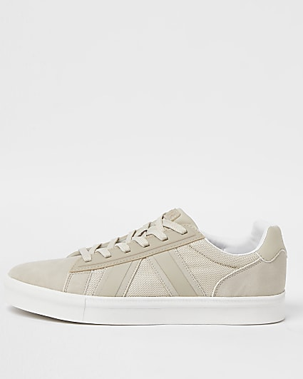 Stone lace up trainers