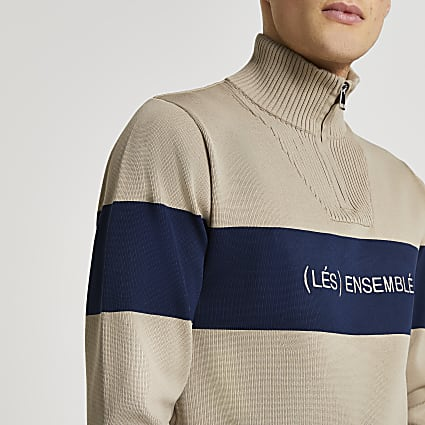 Stone 'Les Ensemble' funnel neck jumper