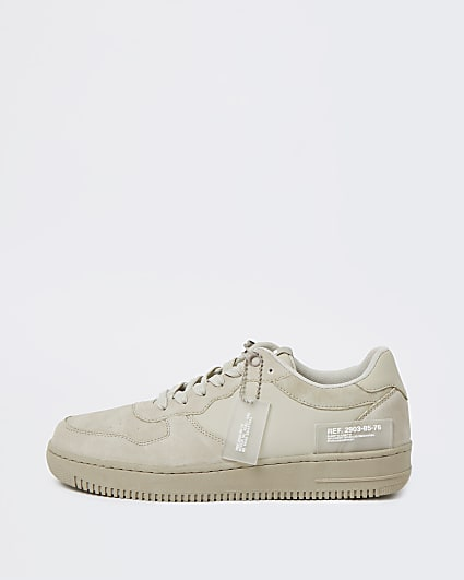 Stone low top lace up trainers