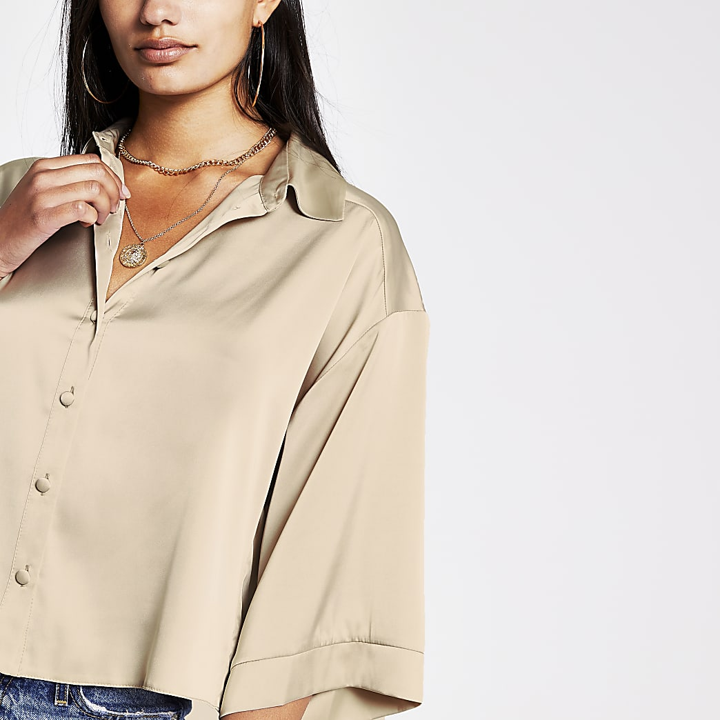 Stone luxe boxy shirt