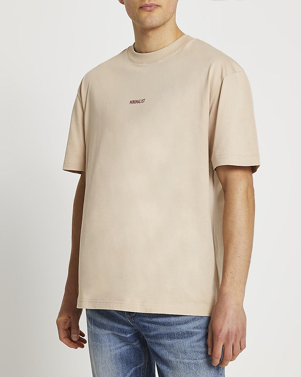 Stone minimalist oversized t-shirt