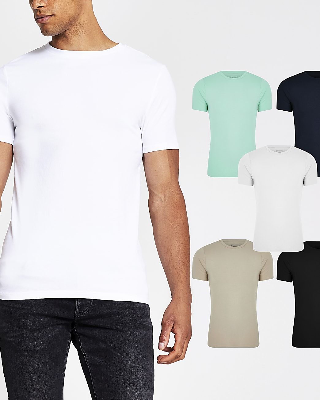 Stone muscle fit t-shirts 5 pack