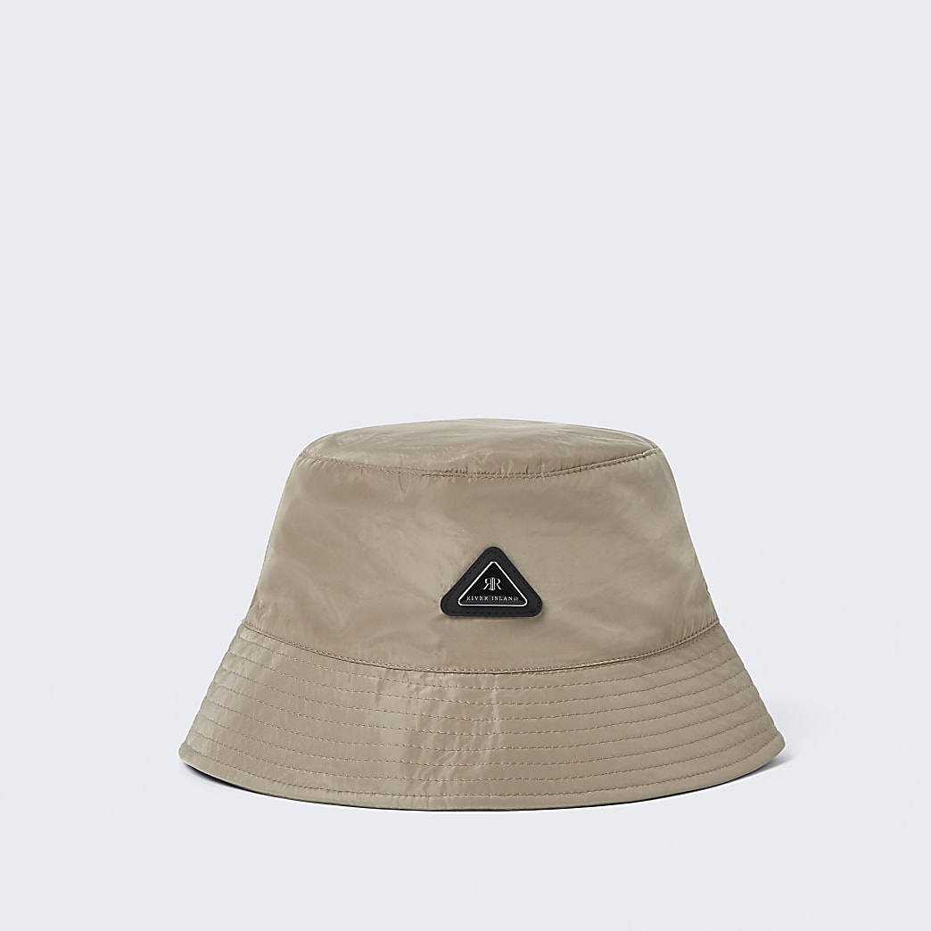 Stone nylon bucket hat