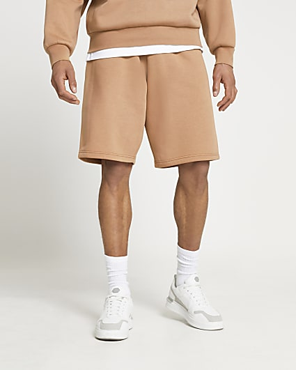 Stone oversized shorts